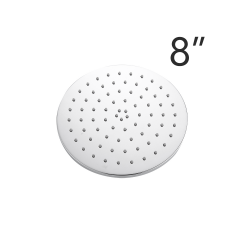 Tecmolog Brass Chrome 8/10/12 Inches Round Rain Shower Head Pressuried Shower head Powerful Spray Top shower with Silicone Nozzle BD127/BD127A/BD127B