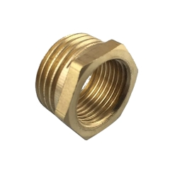 Tecmolog Top Quality Brass Finish Connector Solid Brass Connector, Double Thread Swivel Hose Connector SBA025/SBA025A