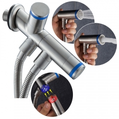 Tecmolog SUS304 Stainless Steel Magnetic Double Mode Toilet Bidet Sprayer, Handheld Sprayer Shattaf for Toilet Washing WS031/WS031F
