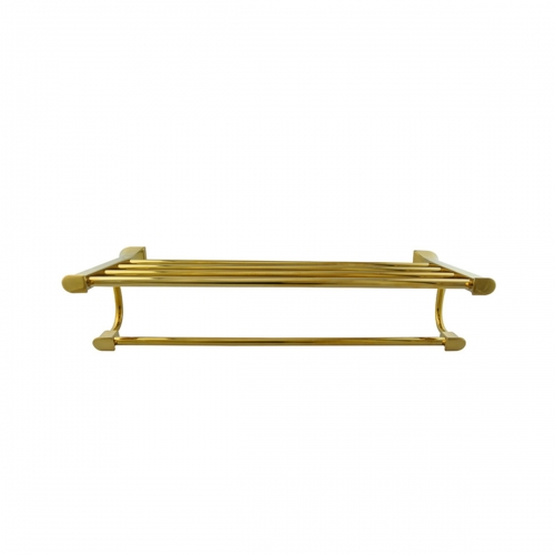 Tecmolog Brass Wall Mounted Double Towel Rails Bars, Wall Mounted Bath Towel Rack Shelf Bathroom Accessories BH501J