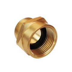 "Tecmolog Brass Pipe Fittings Connector, G 3/4"" Female Thread to US 3/4"" NPT Male Thread, G1/2 Female Thread to US 1/2 NPT Male Thread, SBA037A/SBA037"