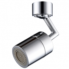 Tecmolog M24 Male/ M22 Female Thread Brass Sink Faucet Aerator Filter, Dual Function Tap Aerator with 360°Swivel Spout, Chrome, AFA018/AFA018A